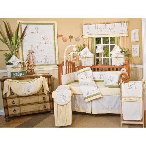Brandee Danielle African Plains 4 Piece Crib Bedding Set