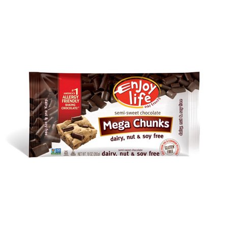 Enjoy Life F00313W Semi-Sweet Mega Chunks Baking Chocolate