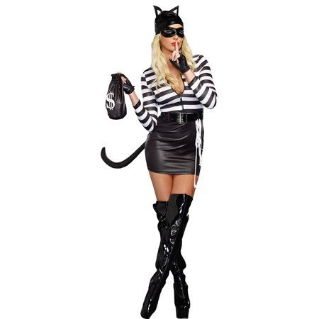 Morris Costumes Womens Polyester Cat Burglar Complete Outfit S, Style RL9965SM - Complete Womens Outfits