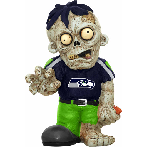 Forever Collectibles NFL Resin Zombie Figurine, Seattle Seahawks