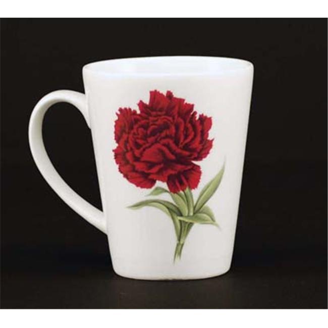 Euland China FL1-005C Set Of Two 12-Ounce Mugs - Carnation