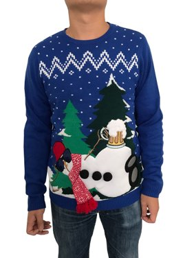 product image really royal take n it easy snowman mens ugly christmas sweater - Christmas Sweaters Walmart