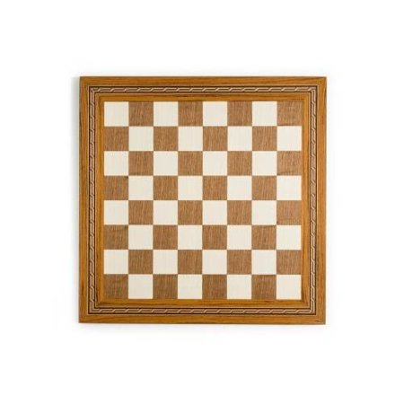 Mosaic Border Inlay Chess & Checker Board in Sycamore & Walnut