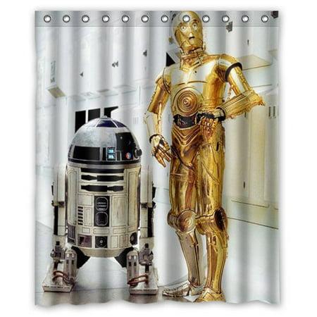 Deyou star wars shower curtain polyester fabric bathroom shower curtain size 60x72 inch - Rideau star wars ...