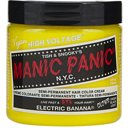 Manic Panic Semi-Permanent Hair Color Cream, Electric Banana 4 oz ()