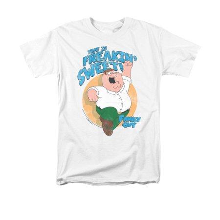 Family Guy Tee Shirts - Family Guy - Sweet Adult Regular Fit T-Shirt - Adult Regular Fit T-Shirt / 3XL / White