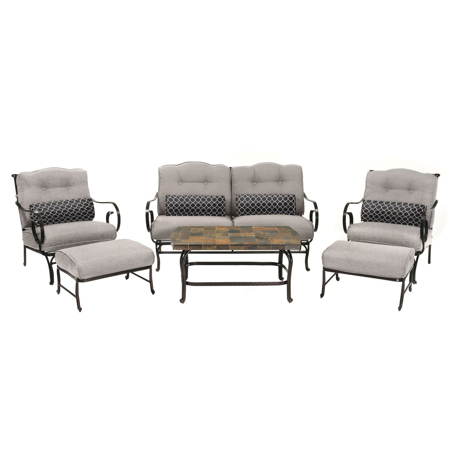 Hanover Outdoor Oceana 6-Piece Patio Set with Stone-Top Coffee Table by Hanover Outdoor