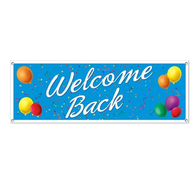 Beistle 57642 Welcome Back Sign Banner - Pack of 12