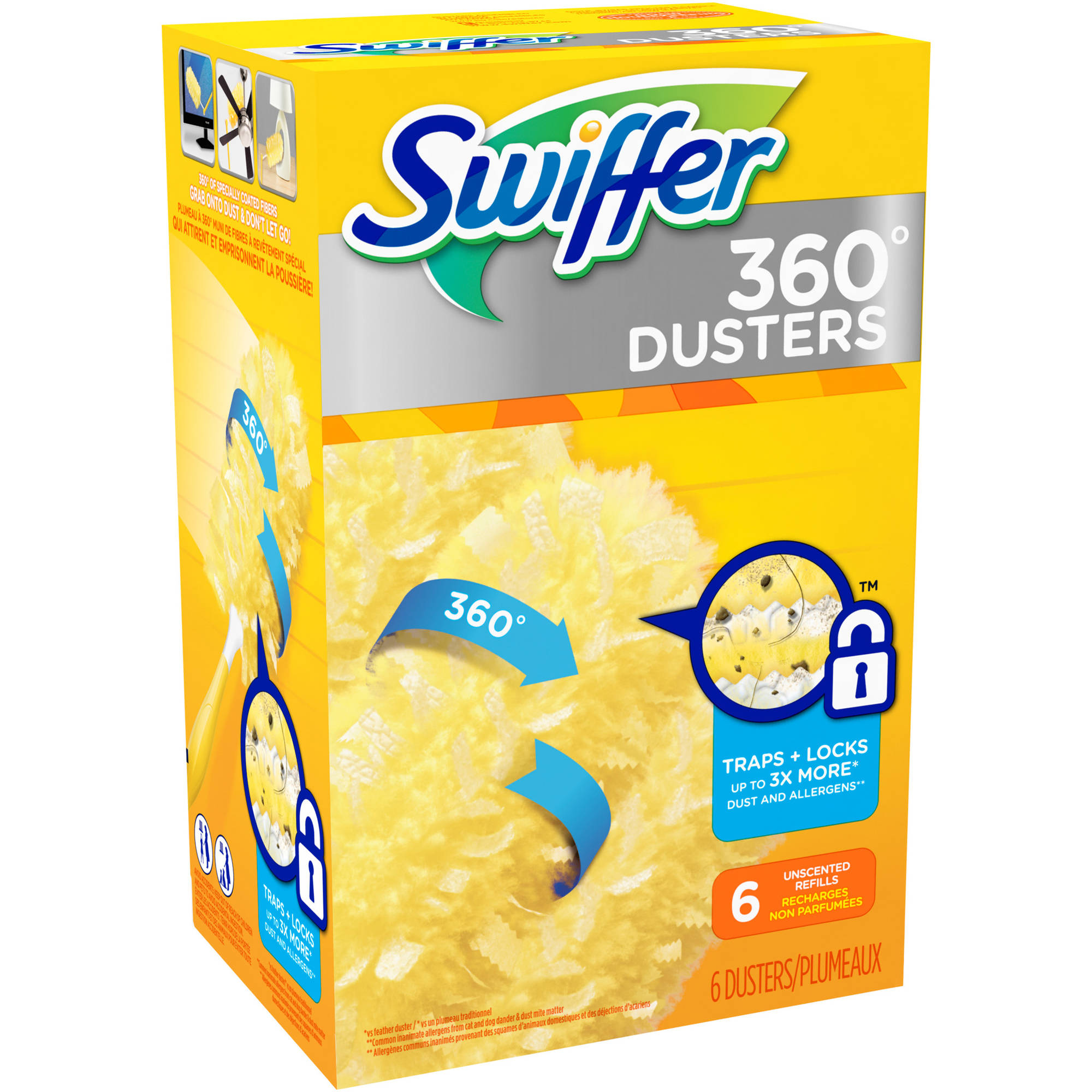 Swiffer 360 Dusters Disposable Refills Unscented (choose your size)