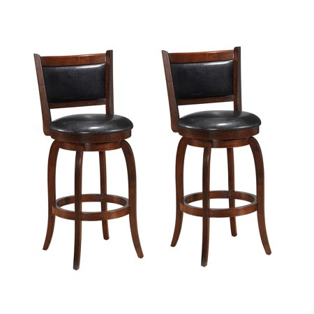 Best Quality Furniture Set Of 2 29 Quot Faux Leather Bar