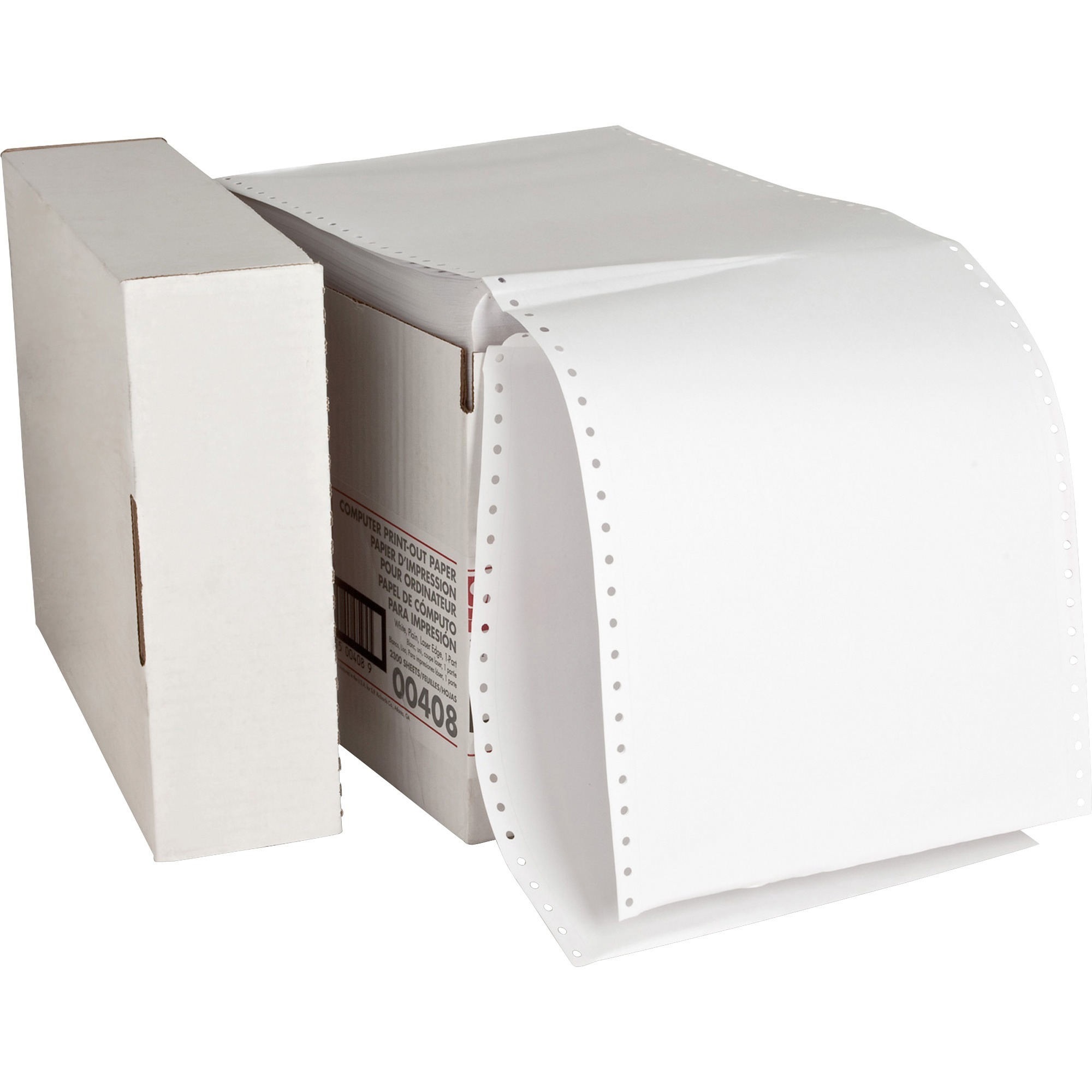 Sparco, SPR00408, Perforated Blank Computer Paper, 2300 / Carton, White