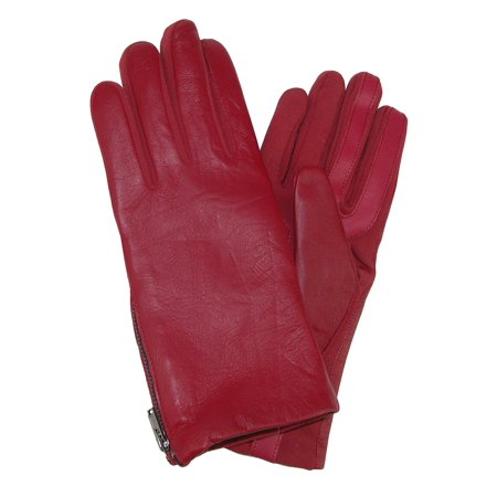 Isotoner Size  Small / Medium Women's Smartouch Stretch Leather Glove with Side Zipper