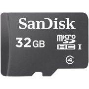 SanDisk 32GB microSDHC Card with Adapter