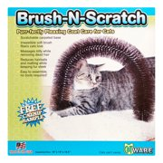 Ware Brush-N-Scratch Cat Brusher & Scratcher, Brown