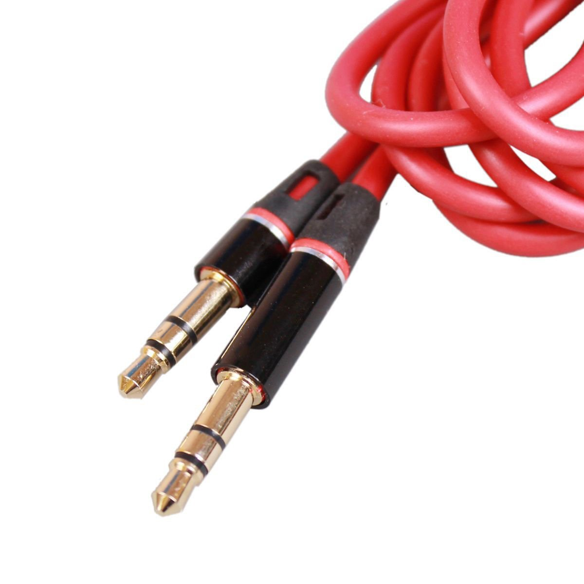 ANices RED Premium 3.5mm 1_8 car aux Audio Cable Cord for Brookstone Soundshield Headphone by ANiceS