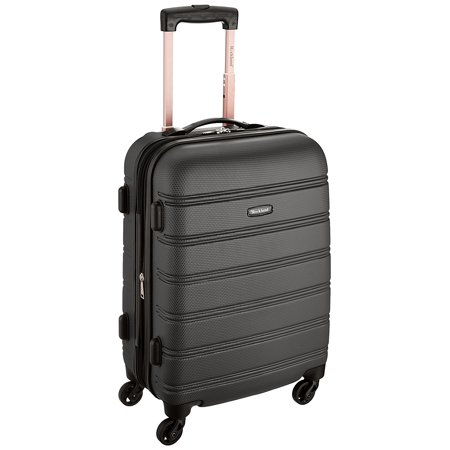 Luggage Melbourne 20 Inch Expandable Abs Carry On Luggage, Black, One Size, Wheel design may vary between black and silver wheels By Rockland