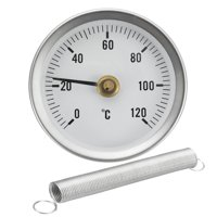 63mm Dial Metal Pipe Thermometer Clip On Temperature Gauge With Spring 0-120 C