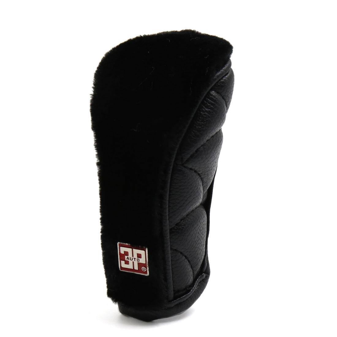 Faux Leather Flannel Zipper Closure Car Gear Shift Lever Knob Cover Black - image 2 of 2