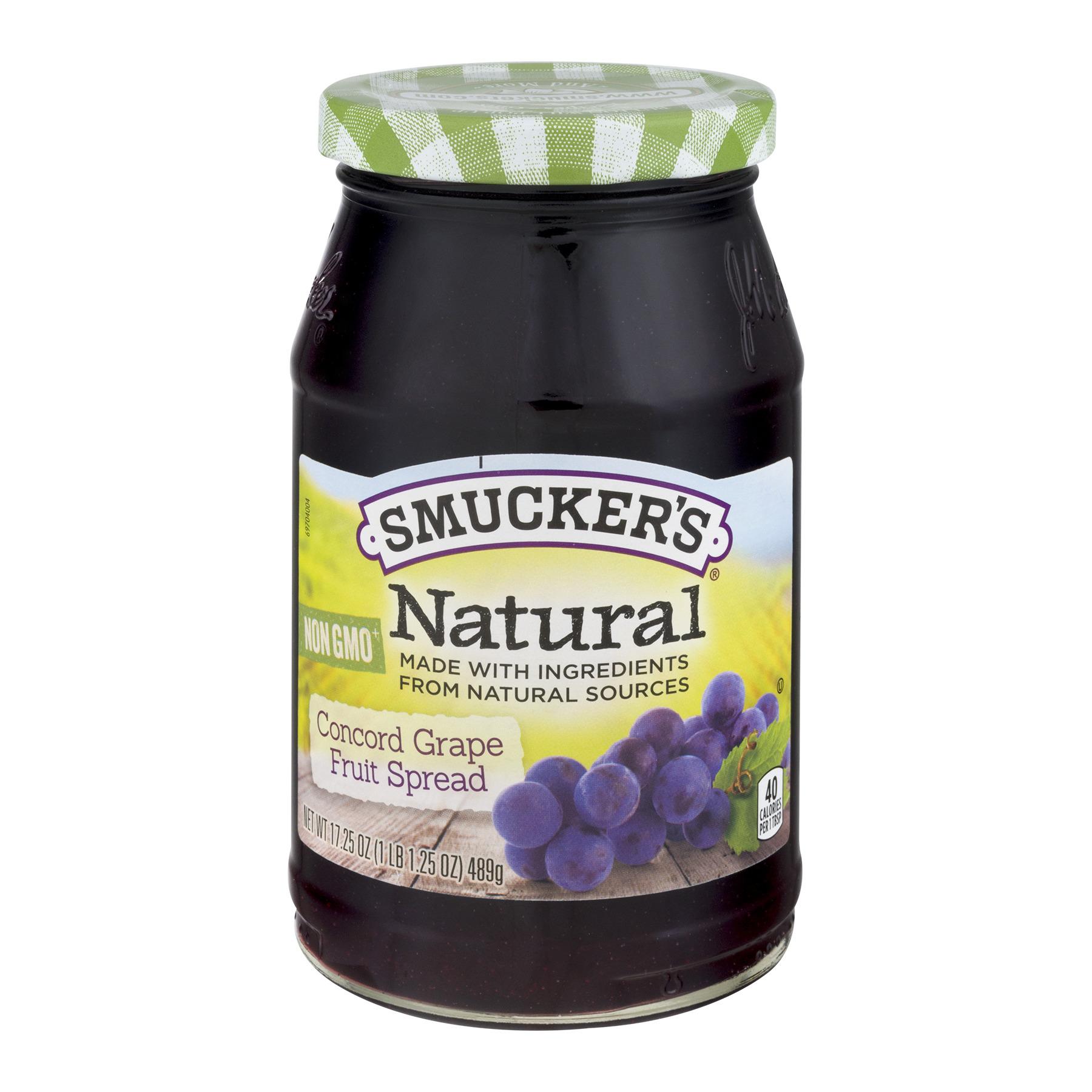 Smucker's Natural Fruit Spread Concord Grape, 17.25 OZ