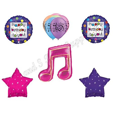 MUSIC NOTE Fresh Beat Band Birthday Party Balloons Decoration Supplies Dance - Music Note Decorations