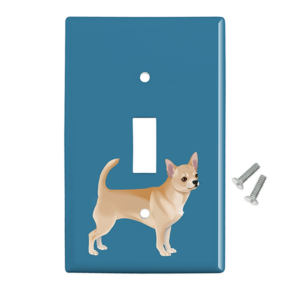 Chihuahua Dog Pet Drawing Plastic Wall Decor Toggle Light Switch Plate Cover Walmart Com Walmart Com