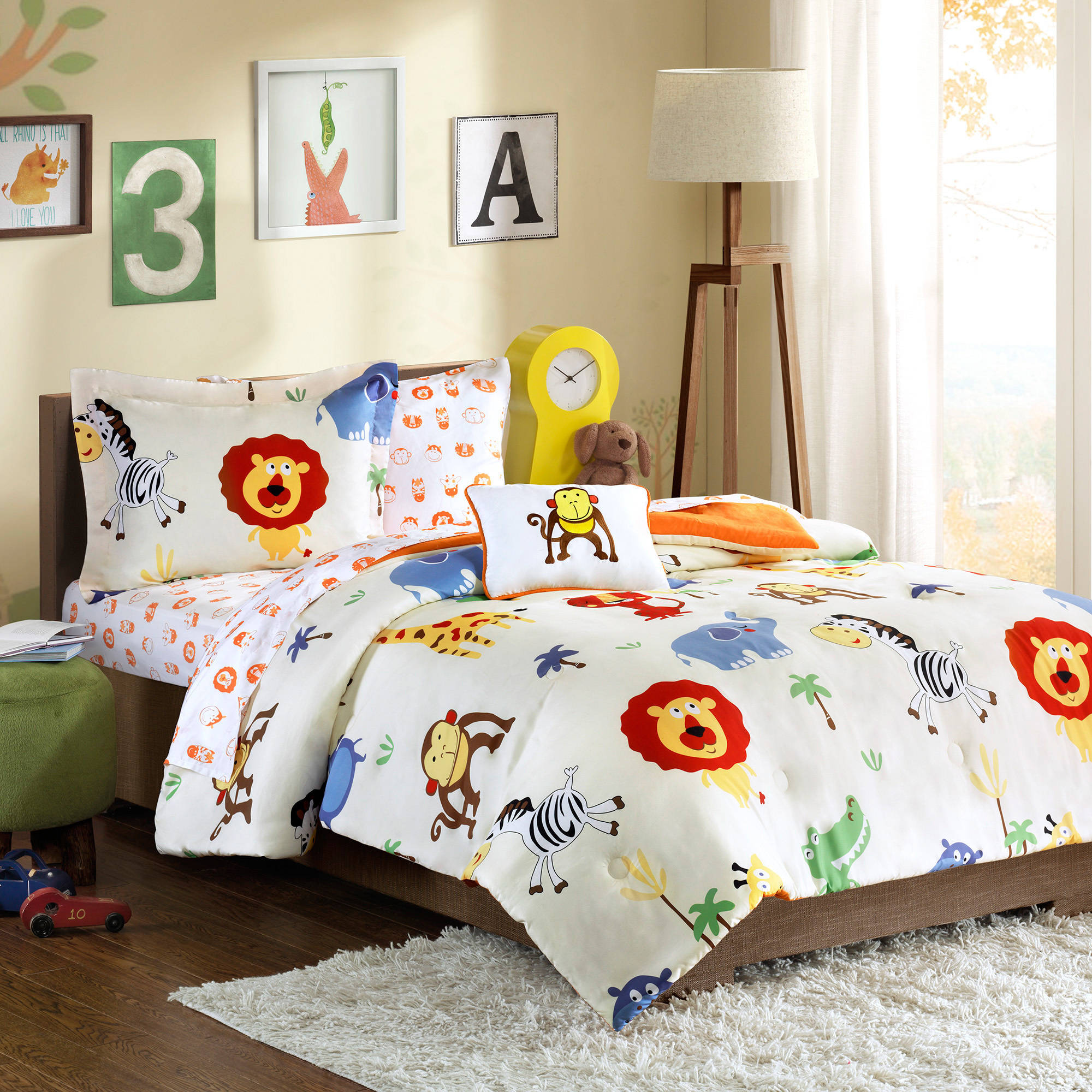 Home Essence Kids Harry Hippo Complete Bed and Sheet Set