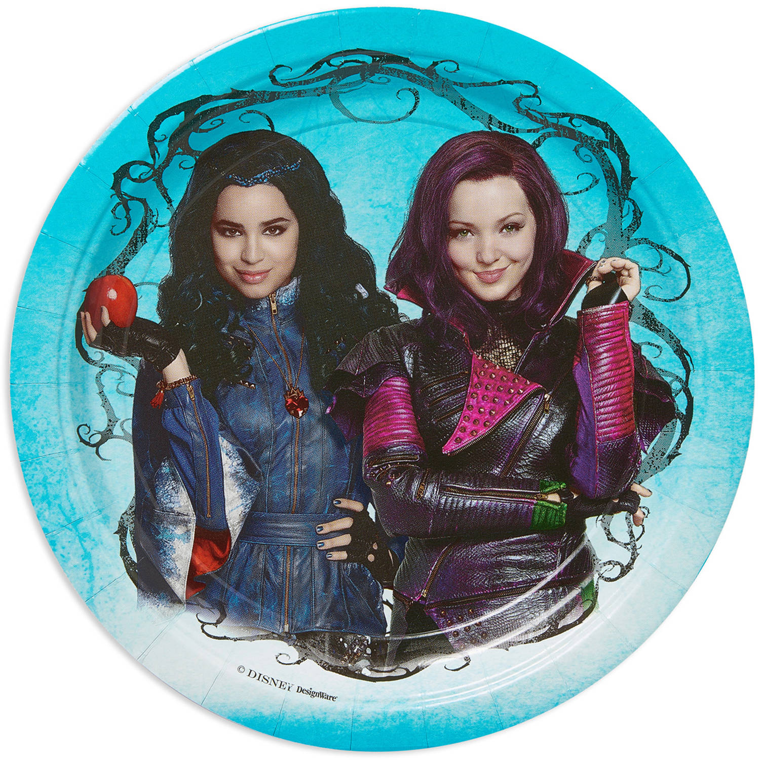 "9"" Disney Descendants Round Paper Party Plate, 8ct"