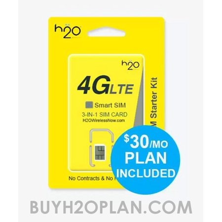 H2O Smart SIM Card with $30 First Month Plan included (Orders with more than 4 SIM Cards will be (Best Sim Card Plans Australia)