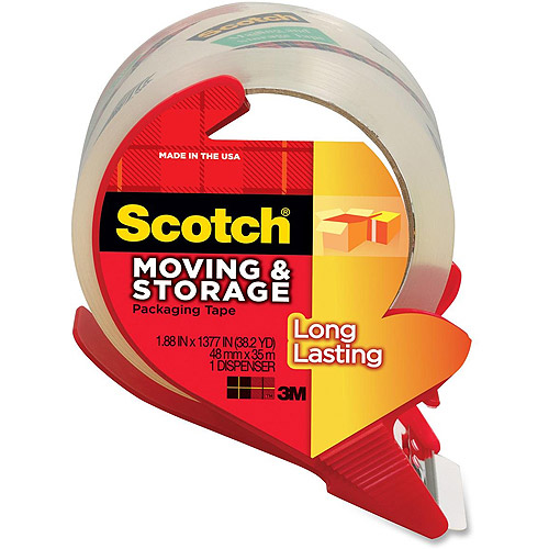 3M Scotch Mailing & Storage Tape w/Dispenser - 1 / RL
