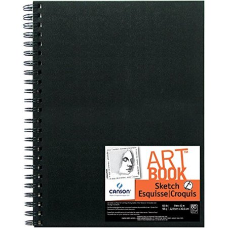 Artist Series Sketch Book Paper Pad, for Pencil and Charcoal, Acid Free, Wire Bound, 65 Pound, 9 x 12 Inch, 80 Sheets, Constructed with sturdy, double wire binding.., By Canson