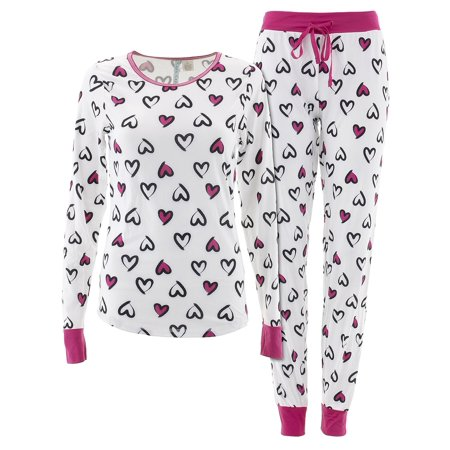 Cozy Couture Juniors Hearts White Valentines Day (Valentine's Day Pajamas)