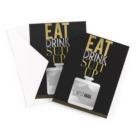 Hortense B. Hewitt 54837 Eat, Drink, Suit Up Scratch Off Card - Best