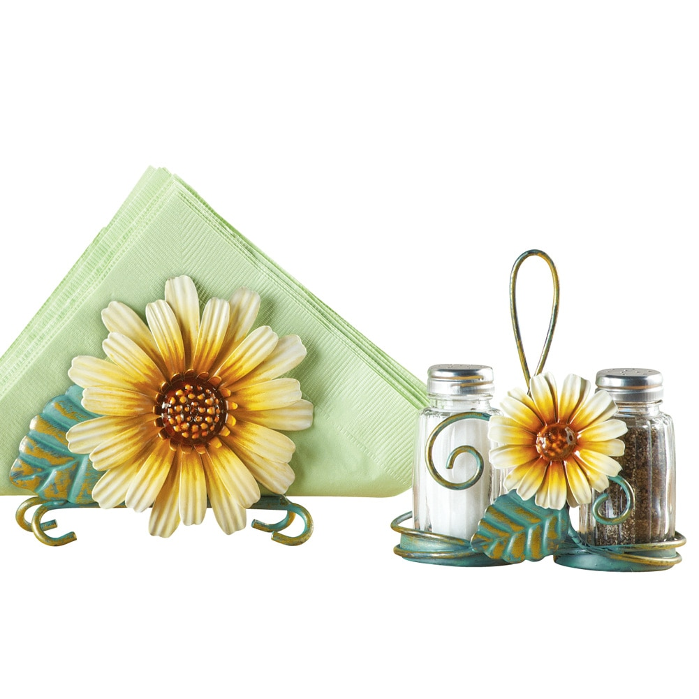 Click here to buy Sunflower Salt And Pepper Shaker Set, Multi by Collections Etc.