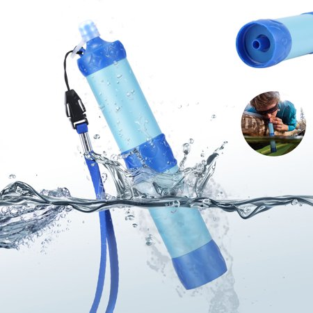 Outdoor Portable Camping Hiking Pressure Water Filter Purifier Wild Drinking Water Emergency Survival Kit