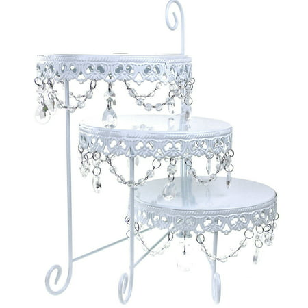 3 Tier Round Cake Rack Display Cake Stand Party Wedding Dessert Cupcake - Decorative Cupcake Holders