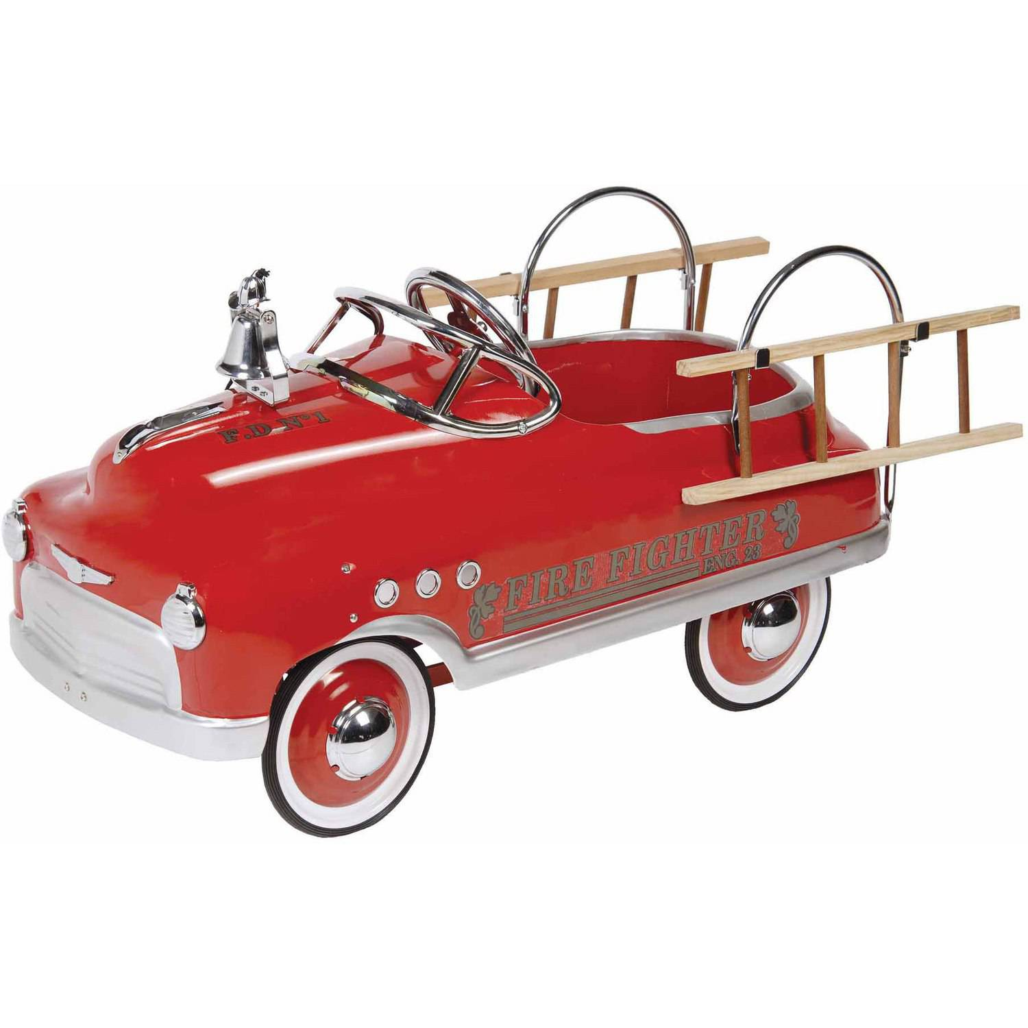 Fire Fighter Comet Sedan Pedal Car by Dexton Kids