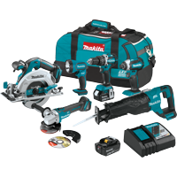 18V LXT® Lithium-Ion Brushless Cordless 6-Pc. Combo Kit (4.0Ah)