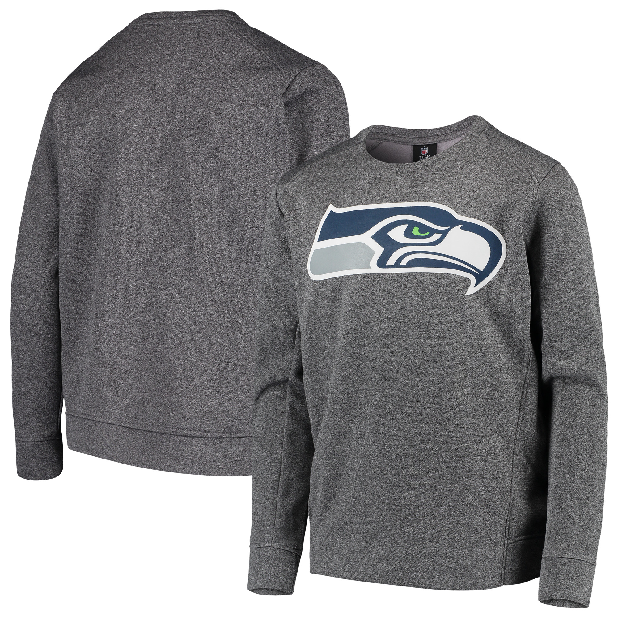 Seattle Seahawks Nike Youth Fleece Crew Sweatshirt - Heathered Gray