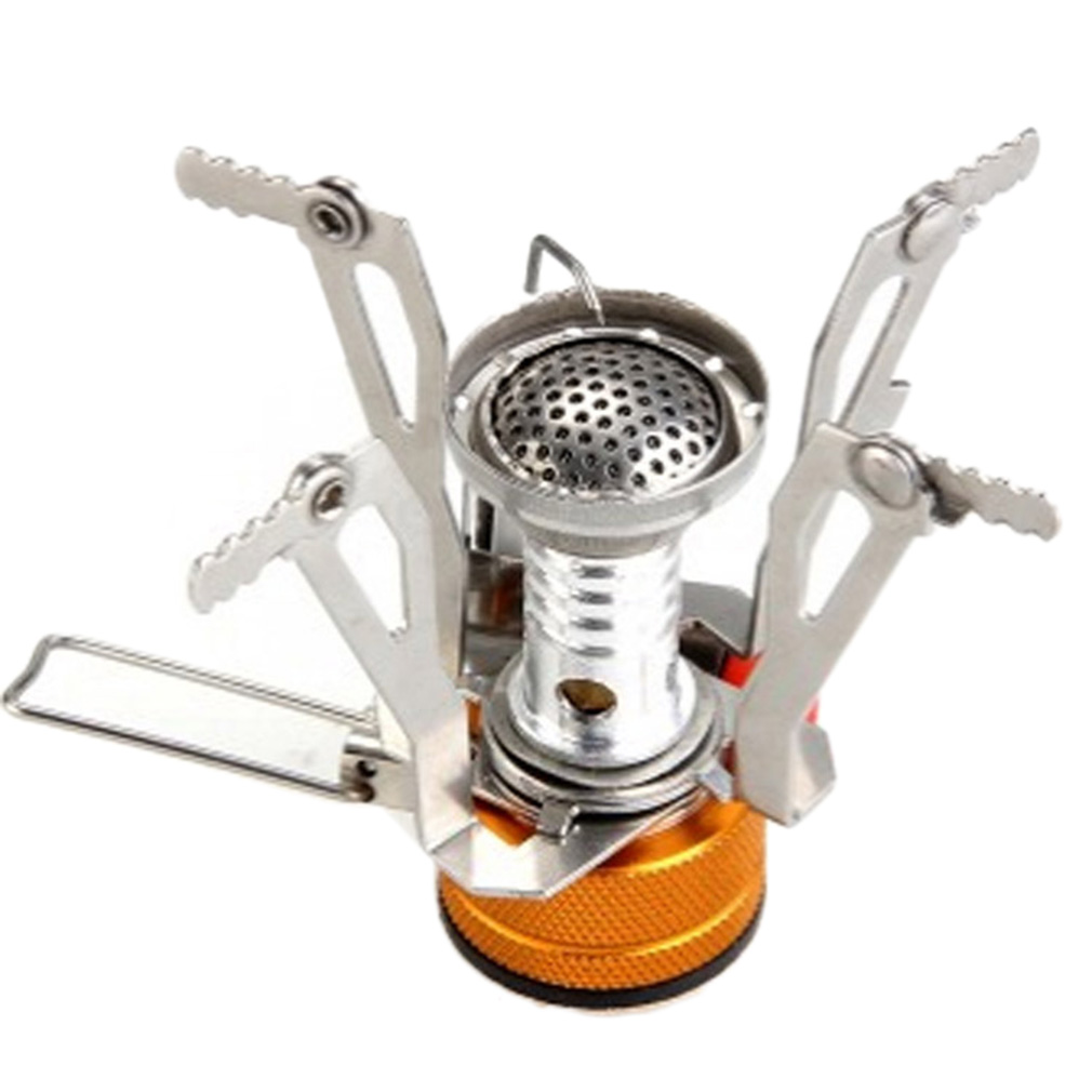 Mini Outdoor Camping Hiking Picnic Gas Cooking Food Water Stove Windproof