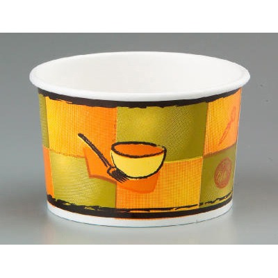 Streetside Paper Food Container With Plastic Lid, Streetside Design, 8-10 Oz ...