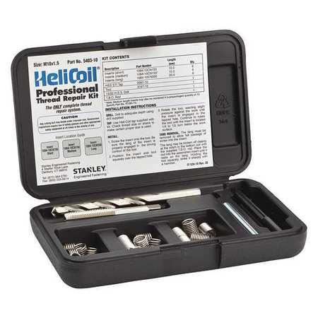 Thread Repair Kit,304 SS,M10x1.5,18 Pcs HELI-COIL 5403-10