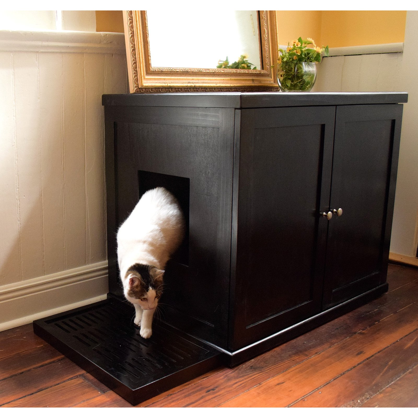 cat litter box furniture walmart Osetacouleur