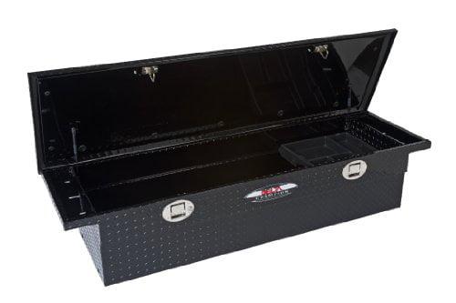 Delta 1-351002 Single Lid Aluminum Low Profile, Truck Crossover Tool Box Black by Delta