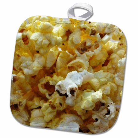3dRose Popcorn - Pot Holder, 8 by 8-inch for $<!---->