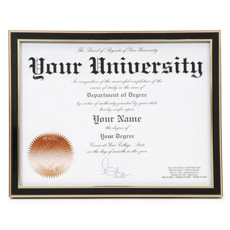 Darice Plastic Diploma Frame: Black, 8.5 x 11 inches (11 Inch Black Base)