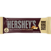 Hershey's, Milk Chocolate with Almonds King Size Candy Bar, 2.6 Oz