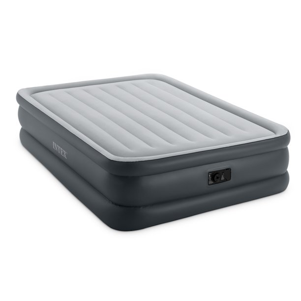 Intex Dura-beam Essential Rest Air Mattress with Built-in Electric Pump, Queen