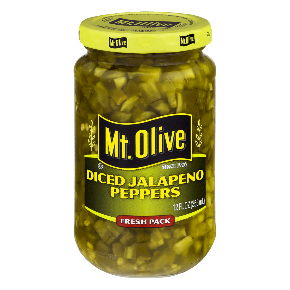 Mt. Olive Diced Jalapeno Peppers, 12.0 FL OZ