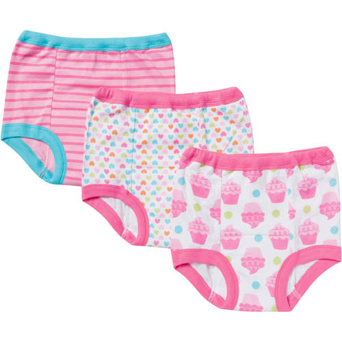 Gerber Toddler Girl's Training Pants, 3-Pack