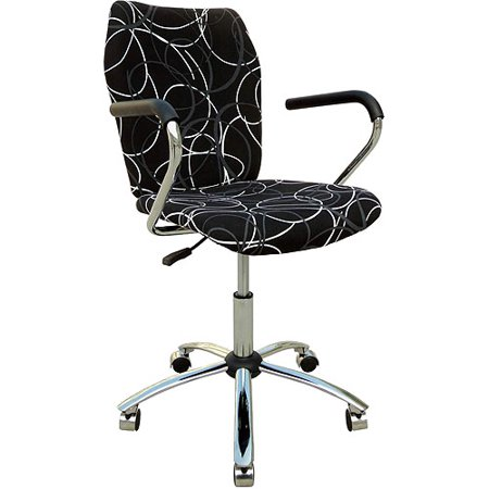 ergo student swivel chair black print
